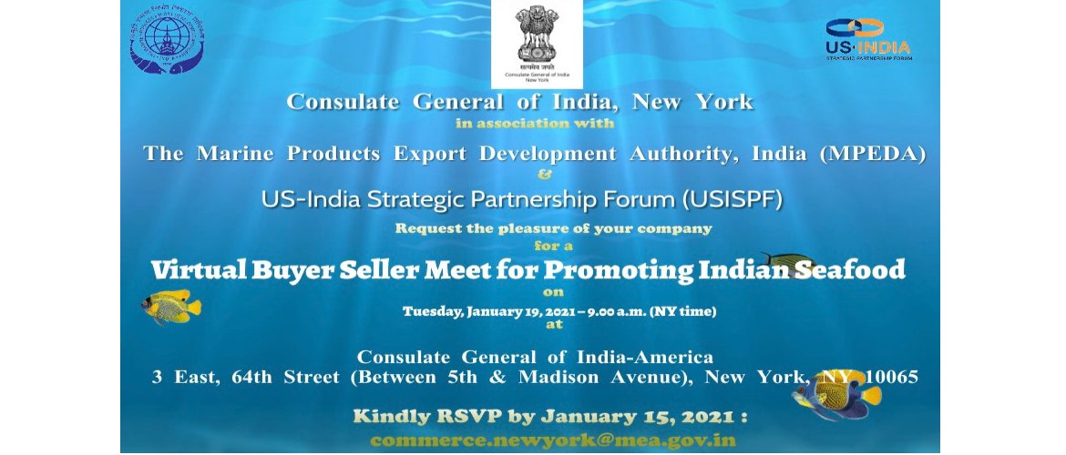 Virtual Buyer Seller Meet for Promoting Indian Seafood on January 19, 2021