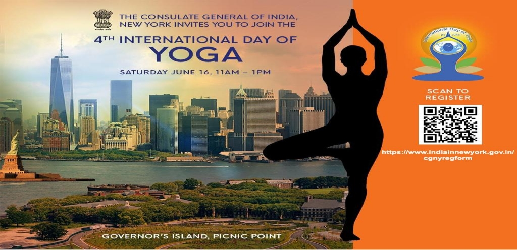 Free Registration open for the 4th International Day of Yoga @Governor's Island (Picnic Point) on Saturday June 16, 2018 from 11:00 a.m to 1.00 p.m