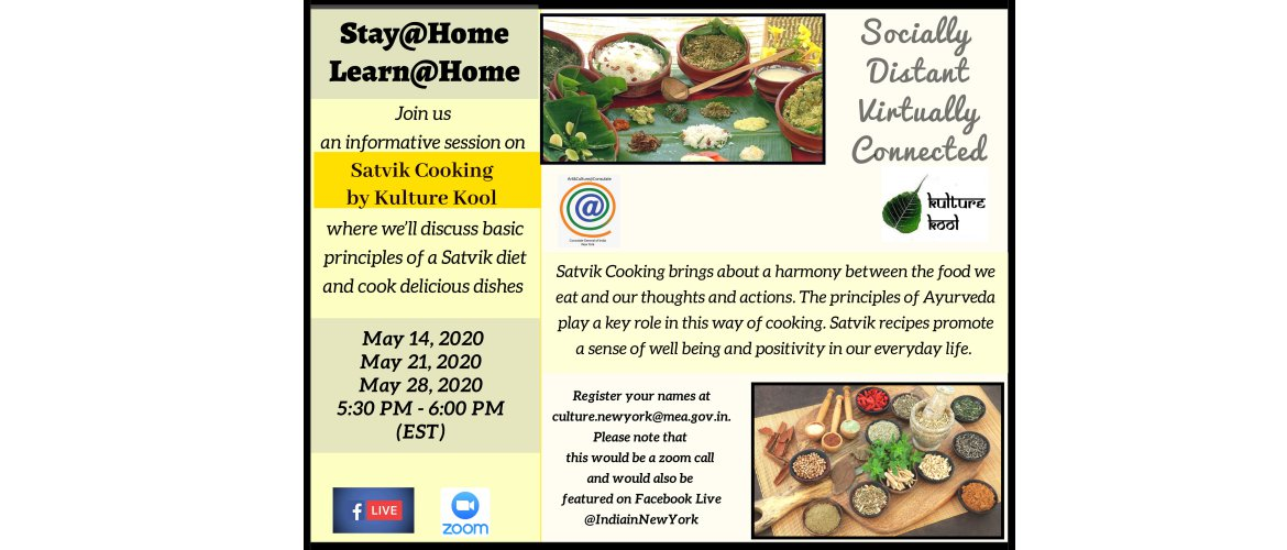 Informative Session on Satvik Cooking by Kulture Kool
