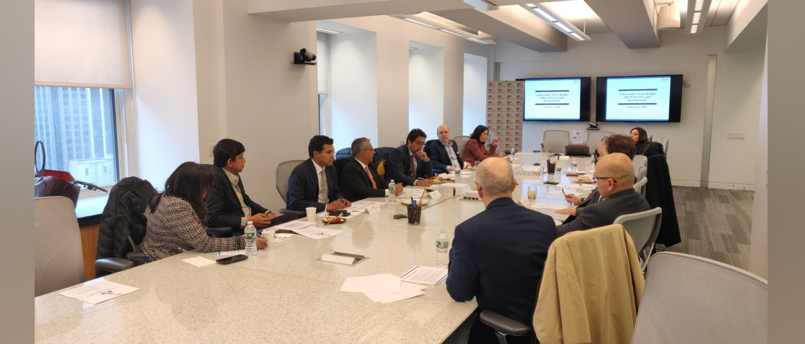Investment Environment in India and Union Budget Talk 2020 with Mr. Rashi Dhir, Sr. Partner, DMD Advocates and Mr. Frank Wisner, Foreign Affairs Advisor on Feb. 6, 2020  at Squire Patton Boggs