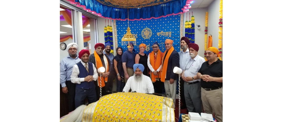 Akhand Paath Sahib in commemoration of 550th birth anniversary of Shri Guru Nanak Dev  Ji at Gurudwara Guru Nanak Darbar in Hicksville (August 2 to August 4)