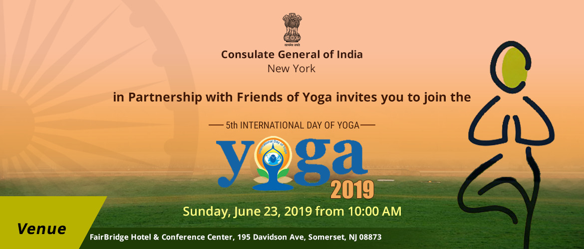 5<sup>th</sup> International Day of Yoga on June 23, 2019