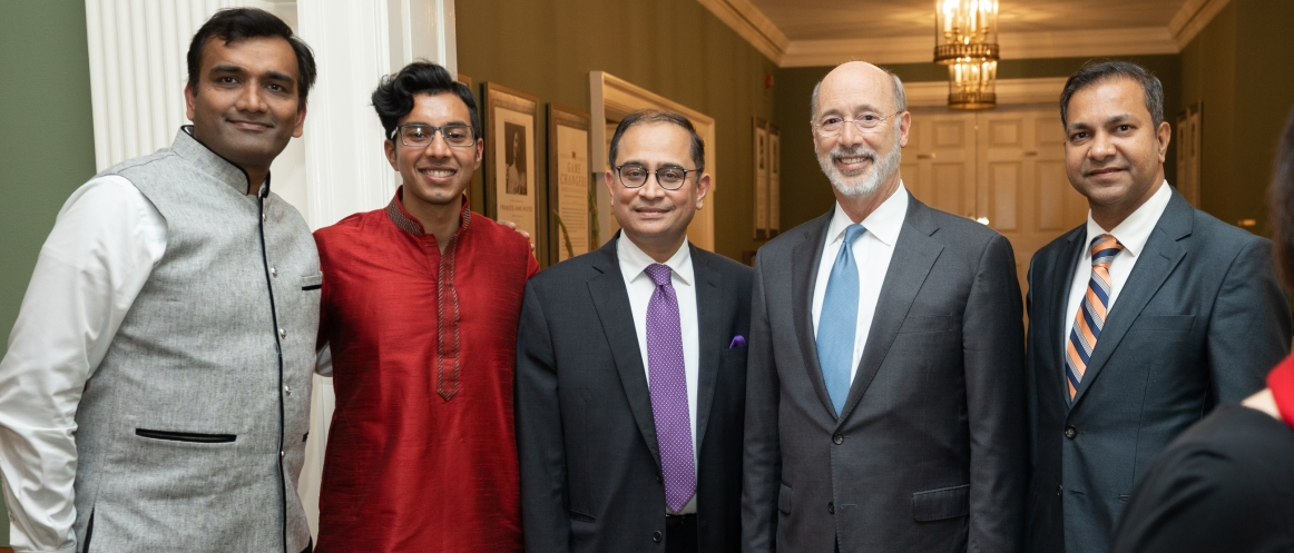 Consul General Sandeep Chakravorty at the Diwali Celebrations hosted by
