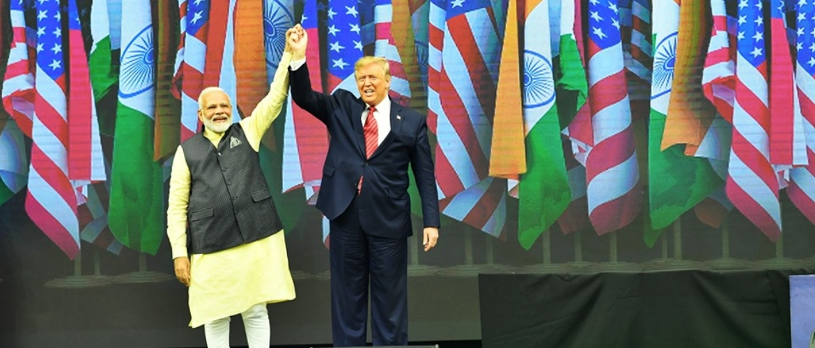 Prime Minister and Donald Trump, President of USA at Indian Community Event in Houston, USA