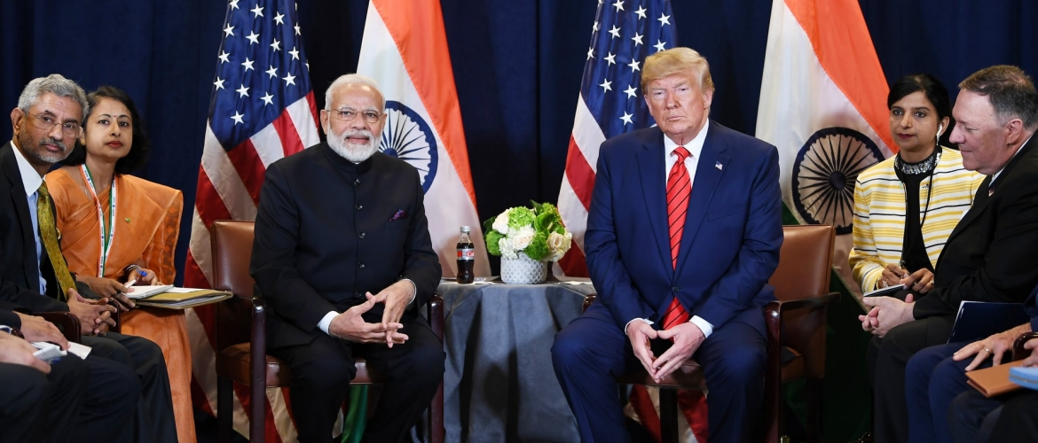 Prime Minister meets Donald Trump, President of USA on the sidelines of 74th session of UNGA in New York