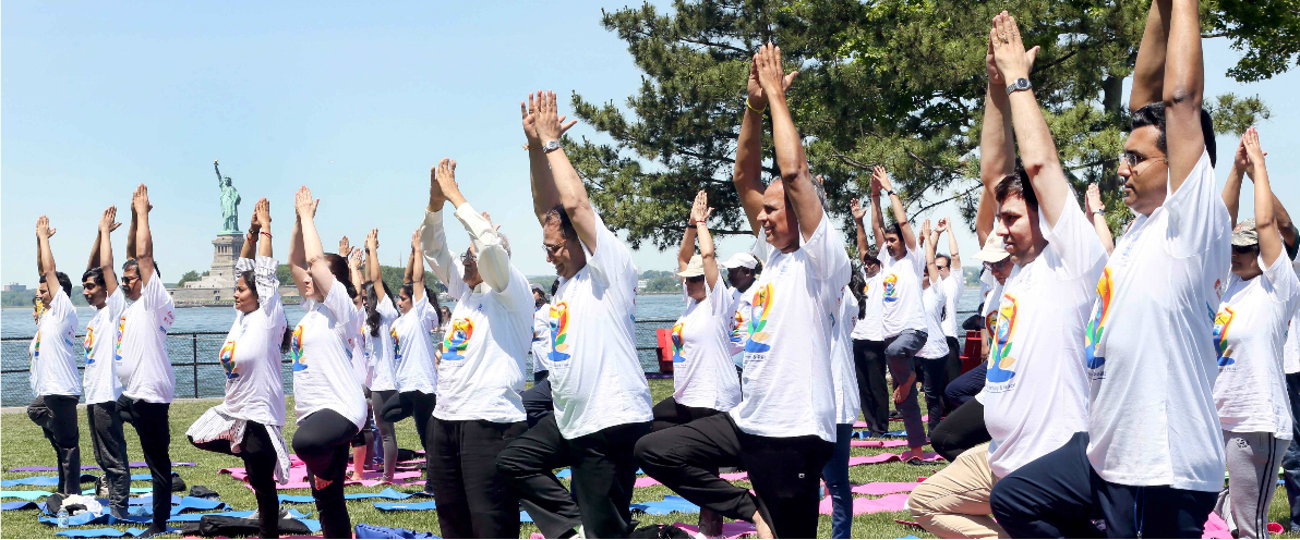 4th International Day of Yoga 2018 Celebrations at the Iconic Governors Island, Picnic Point on June 16, 2018
