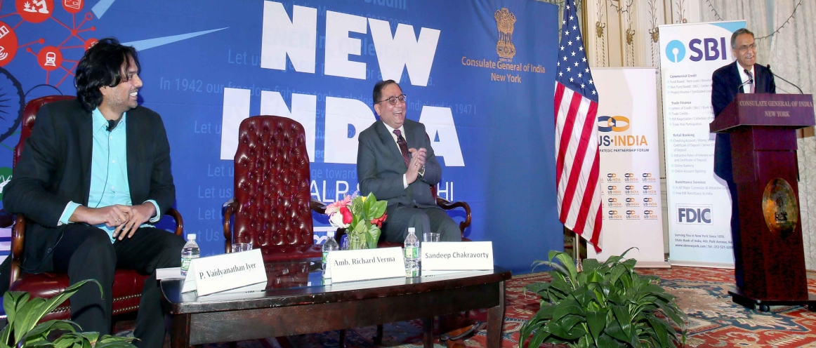 "Ambassador Richard Verma delivered the 3rd New India Lecture at Consulate general of India, New York. He spoke on ""US_ India : Natural Allies- Absent the Alliance."" on April 23, 2018"