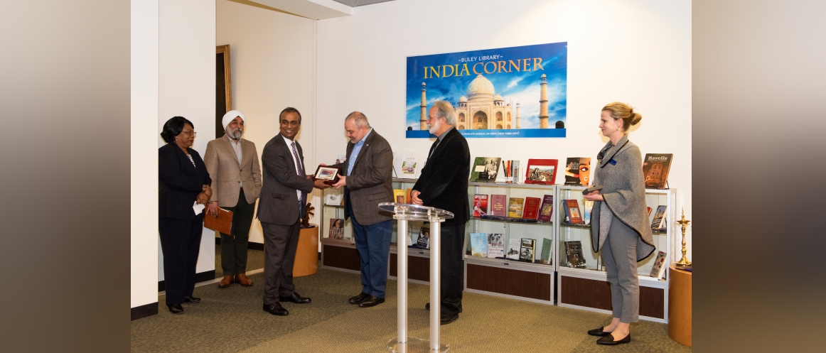 Inauguration of 'India Corner' at Southern Connecticut State University on February 10, 2020