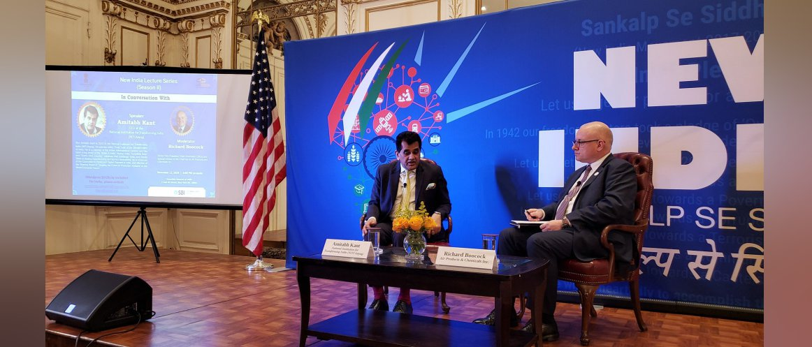 Amitabh Kant and Richard Boocock at New India Lecture@Consulate on December 12, 2019
