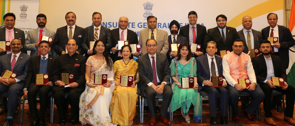 Community Leaders and Volunteers Recognized by the Consulate on the Occasion of Pravasi Bharatiya Divas - January 09, 2020