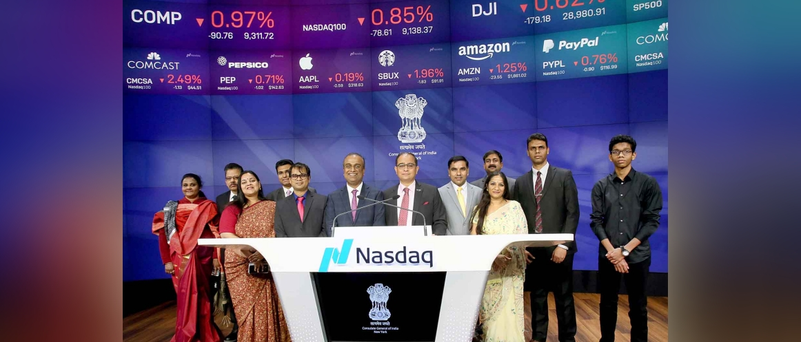 Consulate General of India, New York celebrates 70 Years of Indian Republic at NASDAQ Closing Bell on January 24, 2020