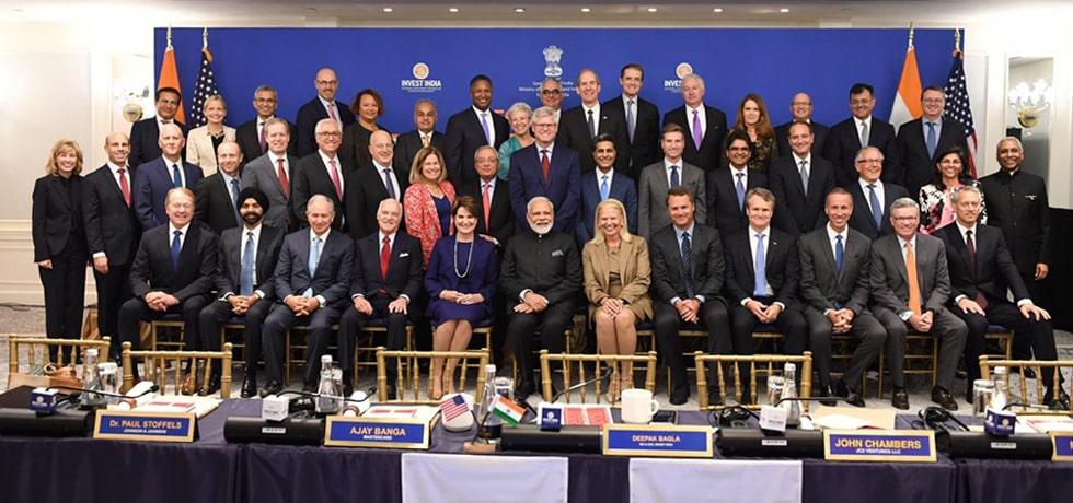 Prime Minister attends CEOs Roundtable Forum in New York during his visit to USA