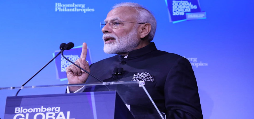 Prime Minister delivers his keynote address at Bloomberg Global Business Forum in New York