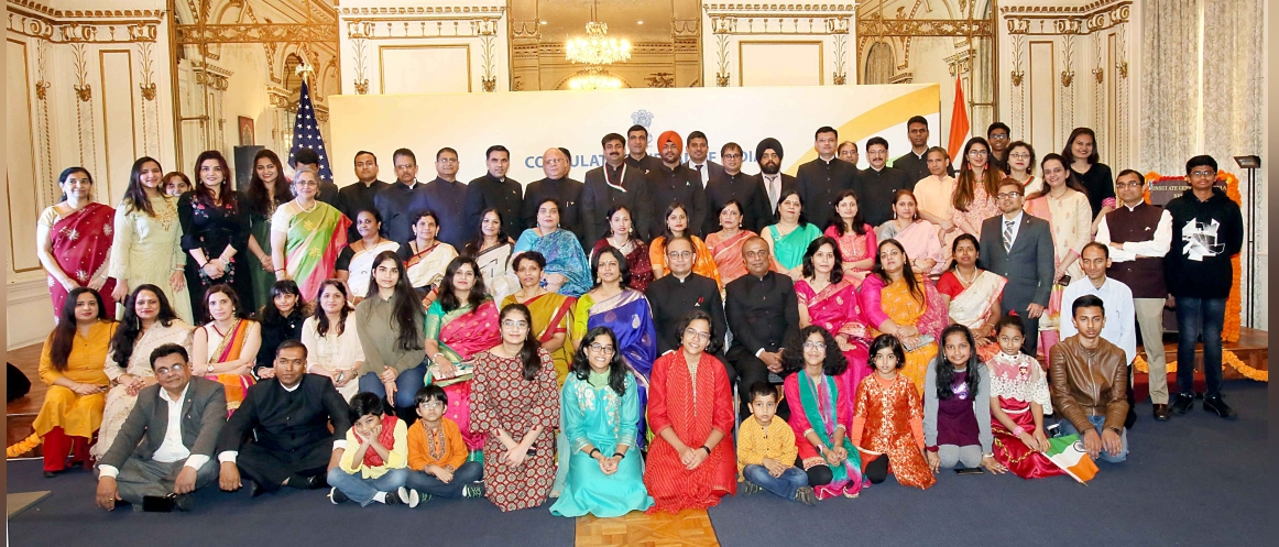 Team Consulate on 71st Republic Day Celebrations at the Consulate on January 26, 2020