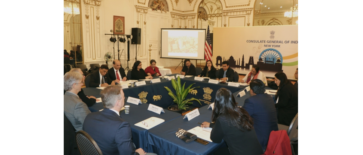 Round table discussion with officials of Delhi Development Authority, National Institute of Urban Affairs, New Delhi and New York City organized by the Consulate (January 21, 2020)
