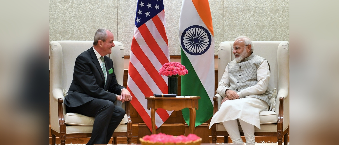 Mr. Phil Murphy, Governor of New Jersey met with Mr. Narendra Modi, Prime Minister of India in Delhi (Sep 16, 2019)