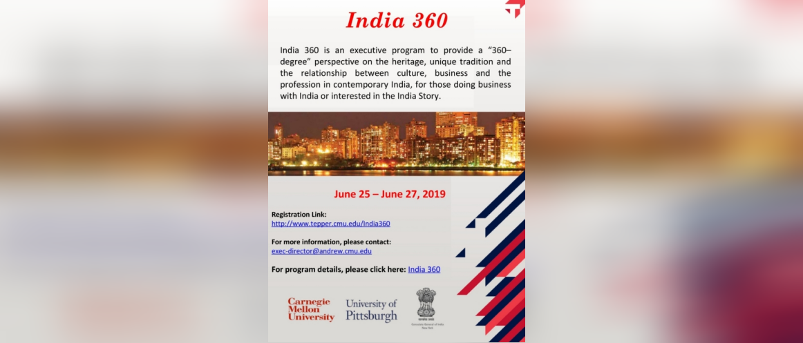 India 360 Executive Education Program, June 25 -27, 2019
