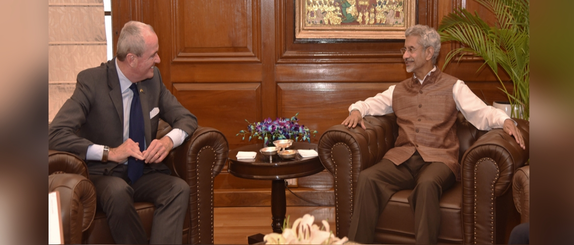 Mr. Phil Murphy, Governor of New Jersey met with Dr. Subrahmanyam Jaishankar, External Affairs Minister in New Delhi (Sep 17, 2019)