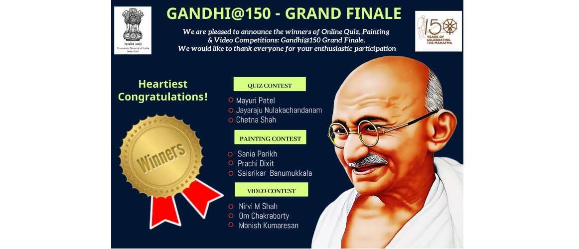Gandhi@150 Grand Finale Winners