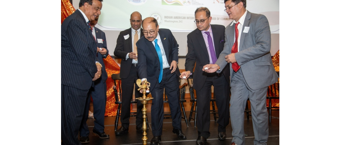 Amb. Harsh Vardhan Shringla addressed members of India Association of Greater Boston on Dec 06,2019