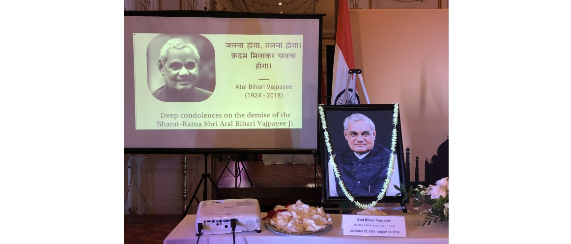 To pay tribute to former Prime Minister of India, Mr. Atal Bihari Vajpayee, Bharat Ratna, a 'Shraddhanjali Sabha' was organized on August 23, 2018, at the Consulate