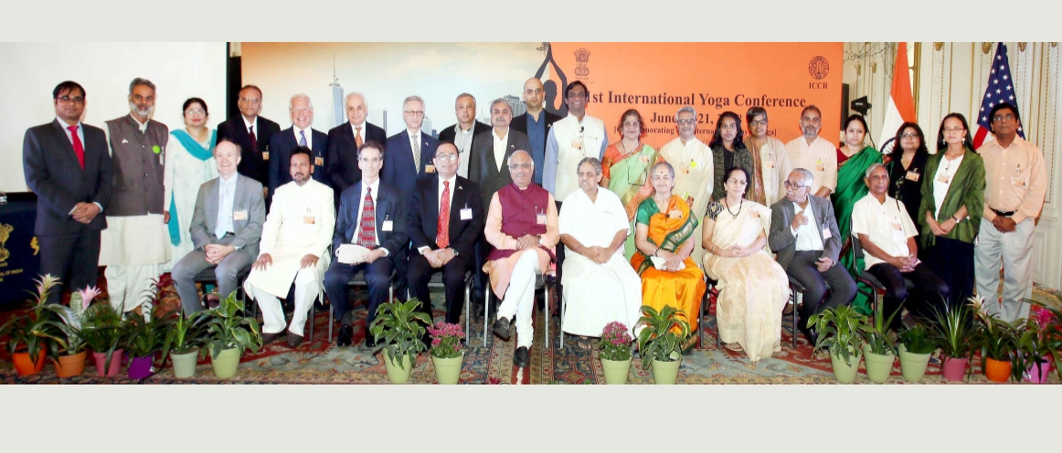 Inaugural Session of the 1st International Yoga Conference in New York (June 20 – 21, 2018) on the theme 'Yoga and its Multi - Dimensions, from Scientific to Spiritual'