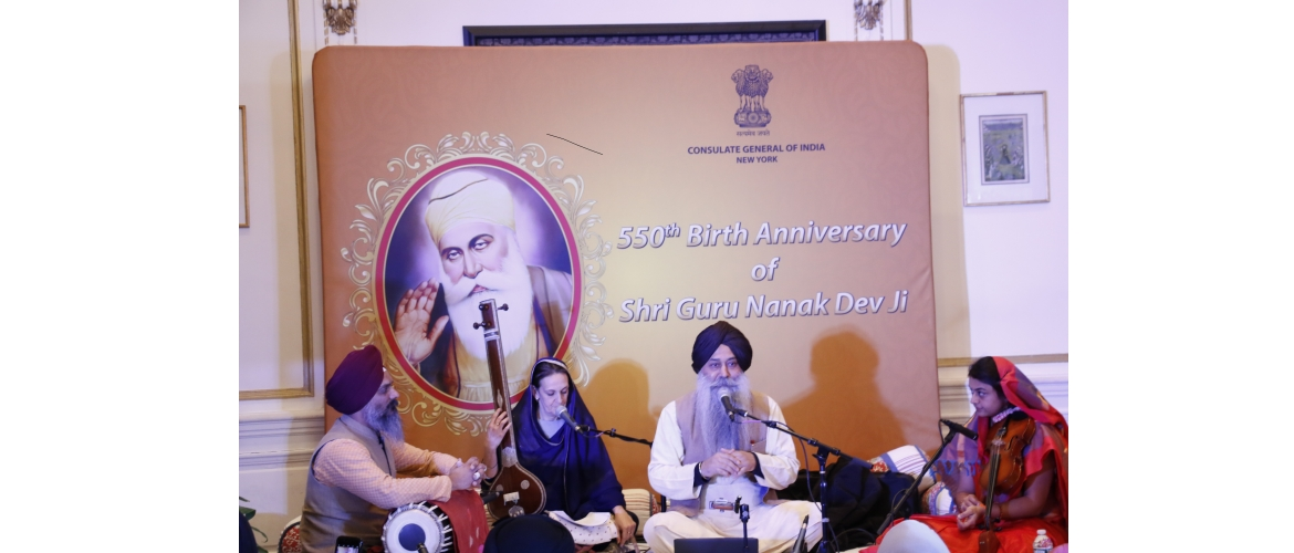 550th Birth Anniversary of Shri Guru Nanak Devji at Consulate with Gurubani by Bhai Baldeep Singhji on January 14, 2019