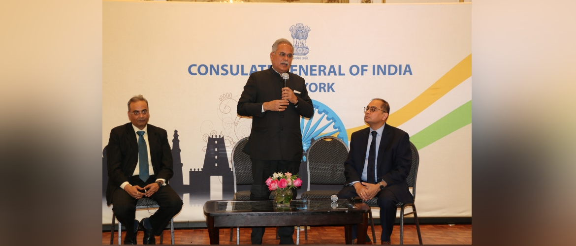 Investment Opportunities in Chhattisgarh : Interaction with the Hon'ble Chief Minister of Chhattisgarh Mr. Bhupesh Baghel at the Consulate on February 18, 2020
